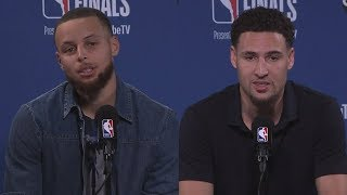 Steph Curry & Klay Thompson Postgame Interview - Game 2 | Cavaliers vs Warriors | 2018 NBA Finals
