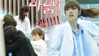 《Making Film》 Park Shin Hye amazing action & fighting scene! @The Doctors