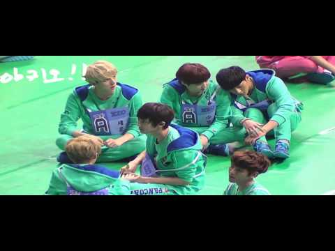 130128 EXO Tired TAO sleeping with Suho @ MBC Idol Sport Athletic Championship 2013 [FANCAM]