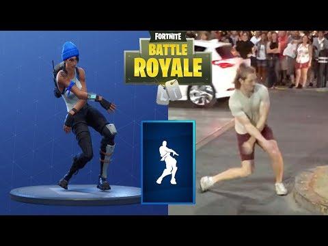Fortnite Dances In Public!