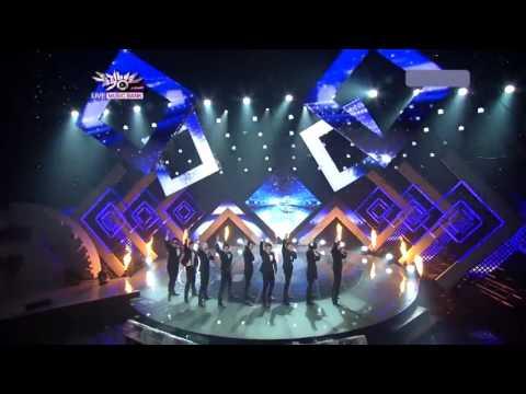 110805 Super Junior   Superman + Mr Simple Music Bank Comeback Stage