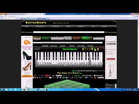 Amar Não é Pecado-introdução no piano virtual do site ButtonBeats.com