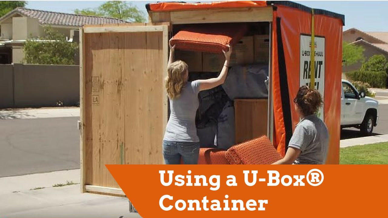 Using A U Box Portable Storage Container For Moving Or