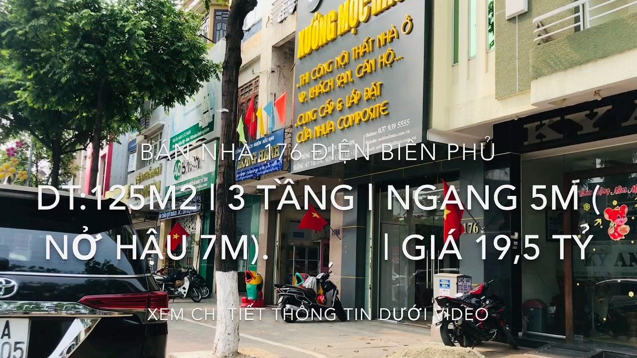 Bán nhà 3 tầng MT 176 Điện Biên Phủ, DT: 125m2 có thu nhập 38 triệu/tháng, giá 18 tỷ video