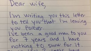 Husband Demands Divorce In Letter, His Wife Brilliant Reply Makes Him Regret Every Word