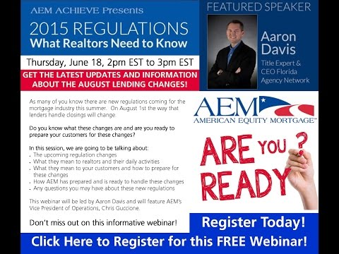 AEM Achieve #9: New TRID Regulations for 2015