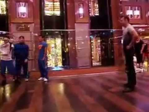 Break Dance Crew gets a surprise by Old School Bboy picked from the crowd