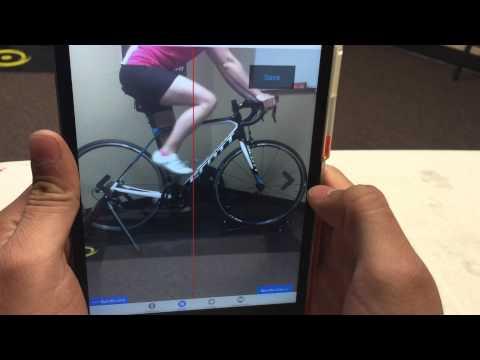 BikeFit iPad App   Saddle Fore-Aft Tool