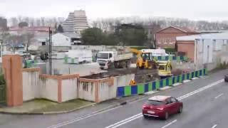 Timelapse : construction de la station GNV de Toulouse