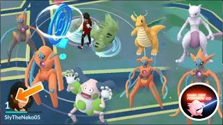 level 1 rare pokemon, level 5 getting all Deoxy form, level 15 perfect mewtwo