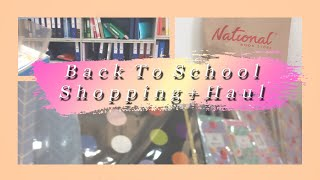 BACK TO SCHOOL #1 || Let's go shopping @ National Bookstore + Haul!