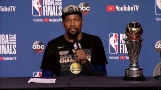 Kevin Durant Postgame Interview - Game 4   Warriors vs Cavaliers   June 8, 2018   2018 NBA Finals
