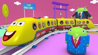 Kids Videos for Kids - Trains for kids - Cartoon Cartoon - Toy Factory - Train Cartoon - Jcb cartoon