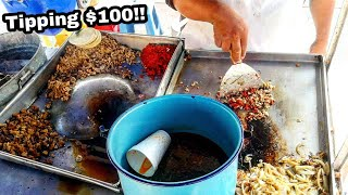 You'll Want To Try This SO BAD!! - ULTIMATE Mexican Street Food TACOS!! - Tipping $100 From Subs.