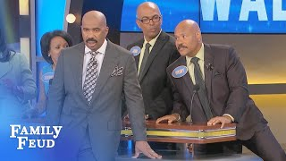 What does a man LIFT HIS LEG to do? | Family Feud