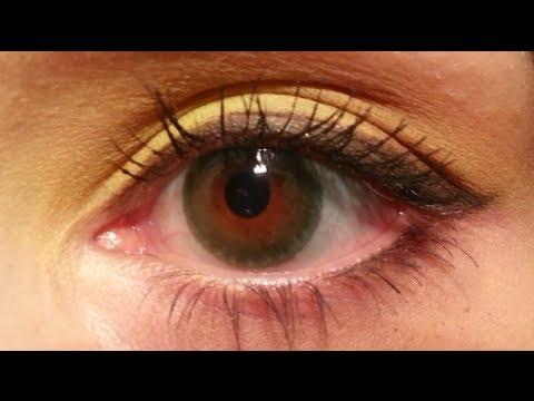 freshlook dimensions sea green on brown eyes - YouTube