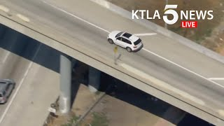 Police track vehicle across Los Angeles County freeways
