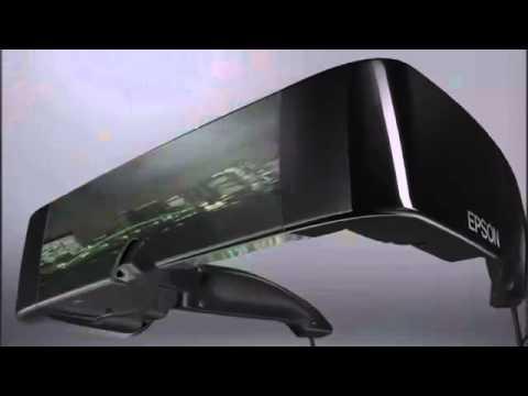 EPSON MOVERIO BT-100 hmd visore 3d con 2 lcd trasparenti