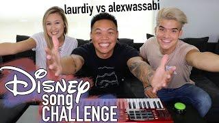 Disney Song Challenge - LaurDIY vs Alex Wassabi | AJ Rafael