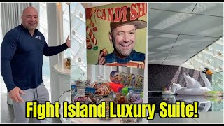 Dana White shows of LUXURY Fight Island suite!