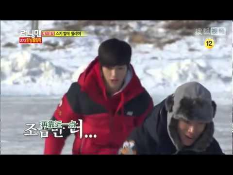 Running man Infinite L(明洙) 滑雪橇