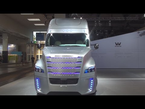 Freightliner Inspiration Tractor Truck Exterior and Interior in 3D