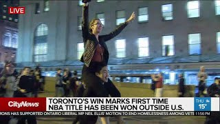 Raptors fans across the GTA celebrate historic win