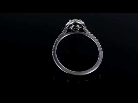Browns Family Jewellers Yellow Diamond Halo Ring