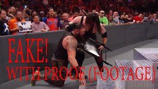 Kane Attack Braun Strowman not fake! WWE RAW 20th November 2017 (footage)