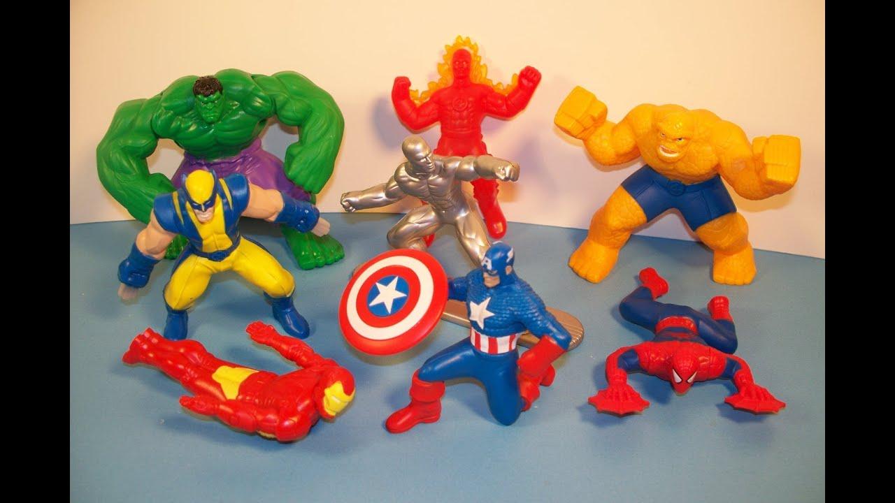 2010 Marvel Heroes Set Of 8 Mcdonald S Happy Meal Kid S