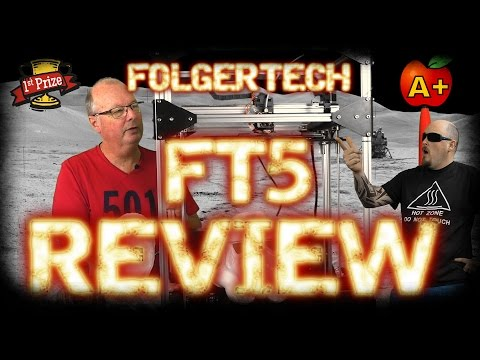 Official Folger Tech FT5 Large Scale 3d Printer Kit Review! Optional Laser and CNC!