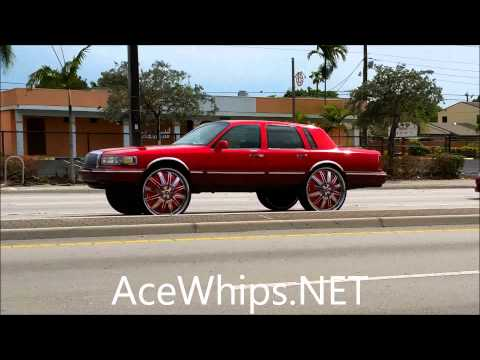 96 Lincoln Towncar On 24inch Single Blades Videomoviles Com