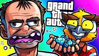 GTA5 Funny Moments - Crystal Heist for Trevor (Beach Bums DLC)!