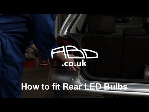 How to fit Rear LED Bulbs