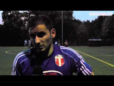 Deniz Kacan (FC Türkiye) und Daniello Cords (Barsbütteler SV) - Die Stimmen zum Spiel (Barsbütteler SV - FC Türkiye, Landesliga Hansa)