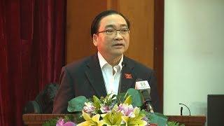 Bí thư Thành ủy Hà Nội Hoàng Trung Hải đối thoại với phụ nữ Thủ đô