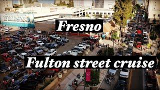 Fulton street cruise night in Fresno