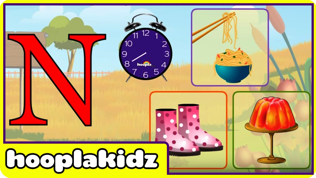 Learn About The Letter N - Preschool Activity - YouTube