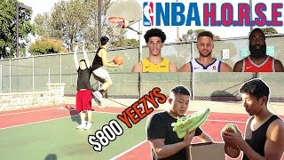 CRAZY 1v1 NBA H.O.R.S.E FOR $800 RARE YEEZYS!!