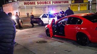 COPS SWARM LA CAR MEETS!  *GUNS DRAWN*