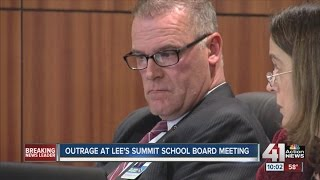 Outrage at Lee's Summit school board meeting