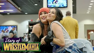 First-ever Women's Battle Royal pumps up The Bella Twins! - Diary of WrestleMania