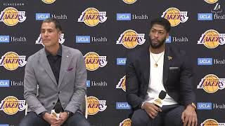 Anthony Davis FULL Lakers Introductory Press Conference | Talks LeBron, Kuzma, Boogie & MORE