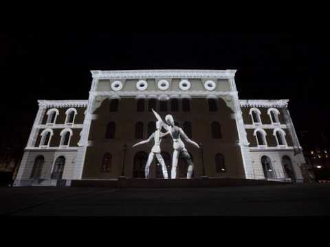 Pennybridge - 3d projection mapping on Örebro Länsteater