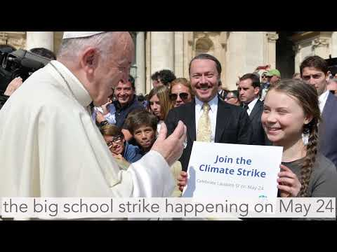Pope Francis Meets Climate Youth Leader