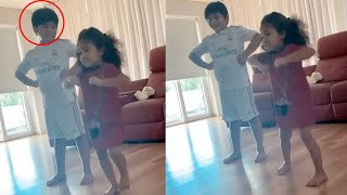 Watch: Allu Arjun kids Allu Arha and Allu Ayaan dance at h..