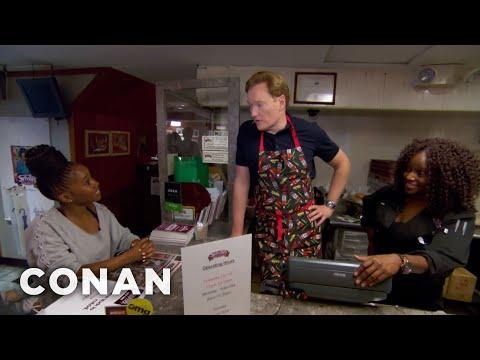 Conan Works At Sylvia's Restaurant  - CONAN on TBS