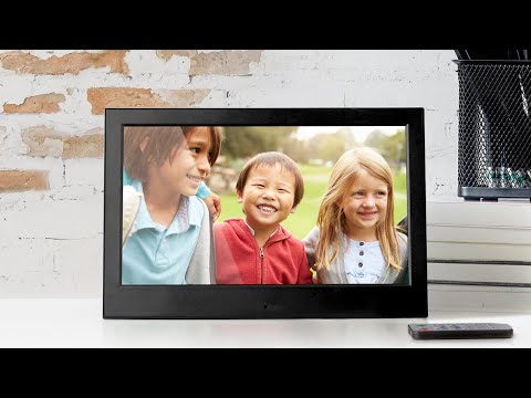 10 inch Slim Digital Photo Frame with 4GB Built-in Memory - Product Spotlight Video