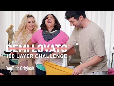 Demi Lovato's 100 Layer Challenge