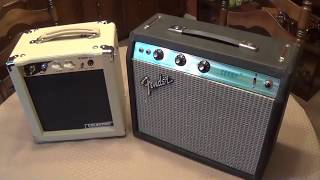 $99 5W Stage Right Amp vs Vintage Silverface Champ.....Fair Match or Slaughter ??